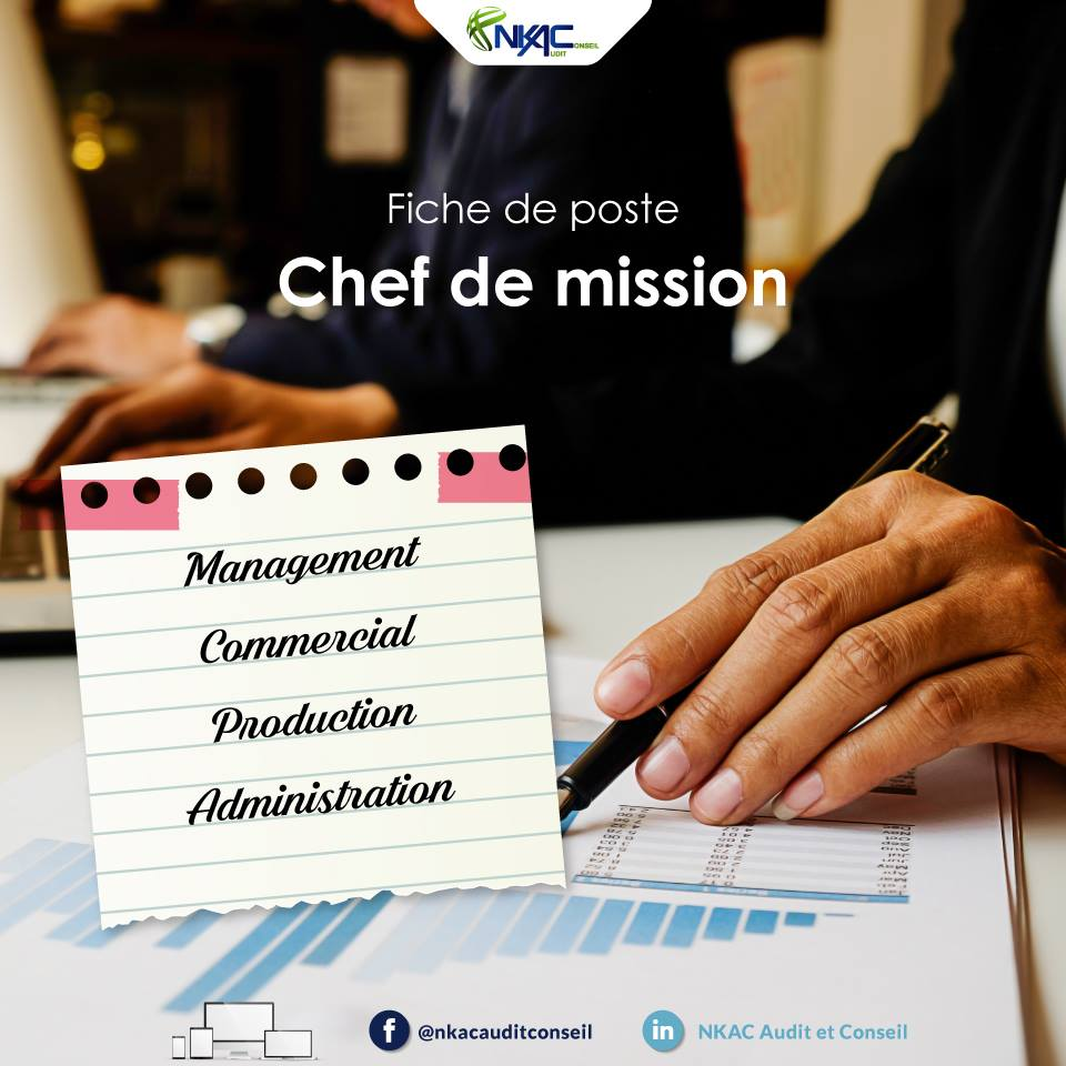 PRESENTATION DU METIER DE CHEF DE MISSION