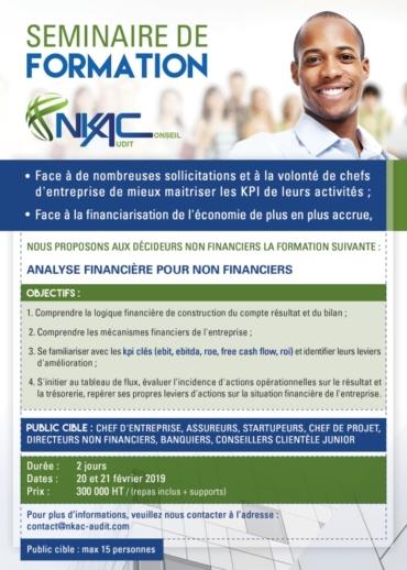 OFFRE DE FORMATION «ANALYSE FINANCIÈRE POUR NON FINANCIERS»