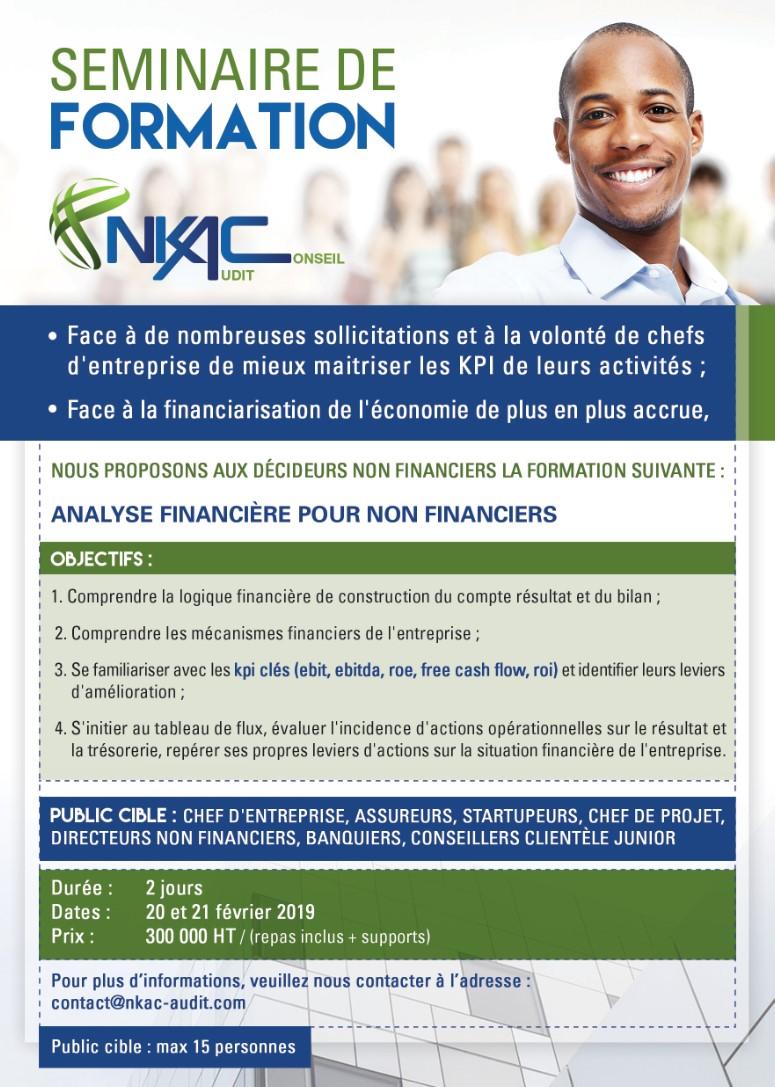 """(Français) OFFRE DE FORMATION """"ANALYSE FINANCIÈRE POUR NON FINANCIERS"""""""