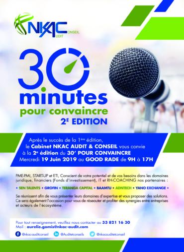 """(Français) EVENT """"30 mns pour convaincre"""""""